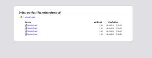 Obsah serveru s aktualizecmi - Mozilla Firefox