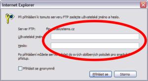 Přihlášení - Microsoft Internet Explorer